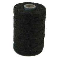 4 ply black Irish Waxed Linen