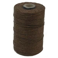 4 ply walnut brown Irish Waxed Linen