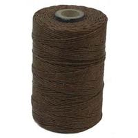 Image 4 ply walnut brown Irish Waxed Linen