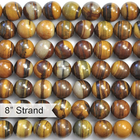 Iron Zebra Jasper 10mm round shades of brown
