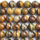 Iron Zebra Jasper 12mm round shades of brown