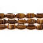 Iron Zebra Jasper 15 x 30mm oval shades of brown