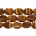 Iron Zebra Jasper 30 x 40mm oval shades of brown
