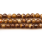 Iron Zebra Jasper 4mm round shades of brown