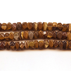 Iron Zebra Jasper 7 x 12mm faceted nugget shades of brown