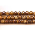 Iron Zebra Jasper 8mm round shades of brown