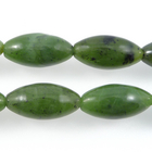 Jade 10 x 20mm large oval deep green