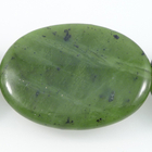 Jade 30 x 40mm oval deep green