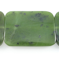 Jade 30 x 40mm rectangle deep green