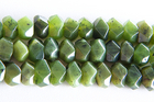 Jade 7 x 12mm faceted nugget deep green