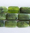 Jade 8 x 14mm rectangle deep green