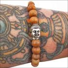 Sandalwood Buddha Mala Bracelet