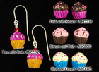 Zero Calorie Cupcake Earrings