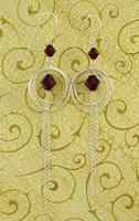 Groovy Garnet Earrings