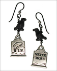 Nevermore Halloween Earrings