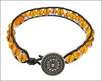 Sparkly Leather Wrap Bracelet