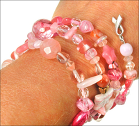 Pink Rose Garden Awareness Bracelet