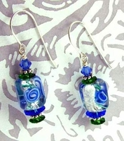 Bouquet in Glass Earrings
