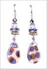Spotted Czech Peacock Sparkle Earrings