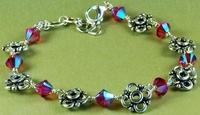 Stellar Sparkles & Flower Links Bracelet