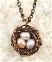 Bird's Nest Pendant Necklace