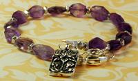 Amethyst Haze Lotus Bracelet