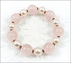 Softly Bold Rose Quartz Bracelet