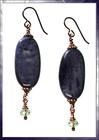 Deep Purple Dumortierite Dangle Earrings