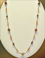 Up Red Creek Floating Bead Necklace
