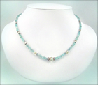 Summer Breeze Gemstone and Crystal Necklace