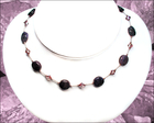 Darling Purple Dumortierite Knotted Silk Necklace