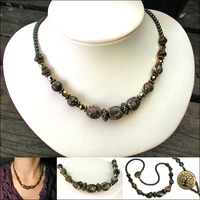 Time Travel Turritella Fossil Necklace