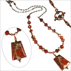 Autumn Sunset White Lace Jasper Necklace