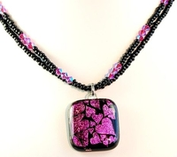 Glowing Hearts Valentine Necklace