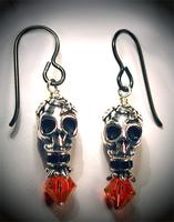 Evening Skull Earrings