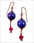 Moody Ruby Earrings