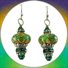 Image Color-changing Emerald Earrings