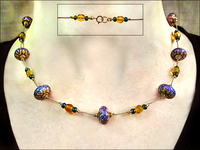 Colorful Chameleon Mood Bead Necklace