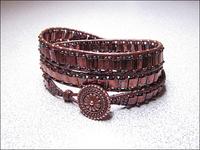 Metallic Raspberry Wrap Bracelet