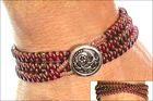 SuperDuo Midsummer Merlot Zippy Wrap Bracelet