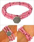 Pretty in Pink Zippy Wrap Bracelet