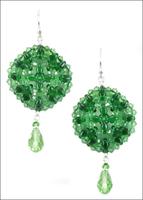 Green SuperDuo Earrings