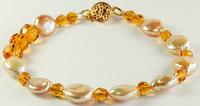 Crystallized Swarovski Elements Topaz Bracelet