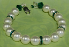 Rings of Emerald Pearl Bracelet