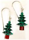 Large Swarovski Holiday Tree Earrings