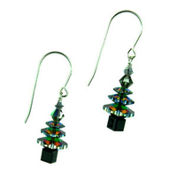 Northern Lights Holiday Trees Earrings
