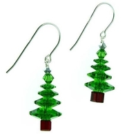 Fern Green Christmas Tree Earrings