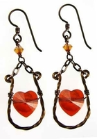 Artistically Wired Heart Earrings