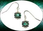Image Crystal Ball Emerald Swarovski Earrings