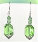 Peridot Crystal Earrings